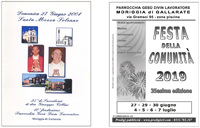 PROGRAMMI FESTE E RICORRENZE